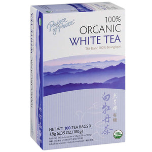 Prince of Peace Organic Premium White Tea 100 tea bags