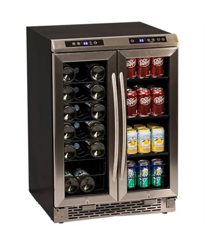 Image of Avanti 24 Inch Wide Built-In French Door Wine and Beverage Cooler