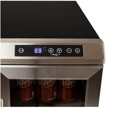 Avanti 24 Inch Wide Built-In French Door Wine and Beverage Cooler