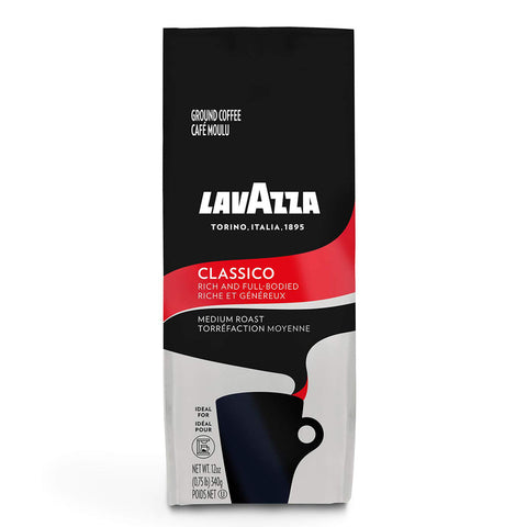 Lavazza Classico Ground Coffee Blend, Medium Roast, 12-Ounce Bag