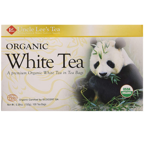 Image of Uncle Lee's Tea- Organic White Tea, Premium Organic White Tea in Tea Bags 100ct