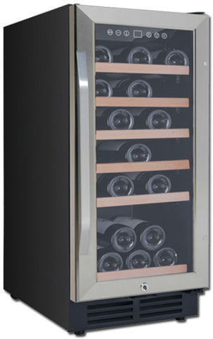 Avanti - 30-Bottle Wine Cooler - Black