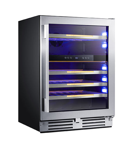 Avanti WCSE47R3S 47 Bottle Elite Single Zone Wine Chiller, Steel