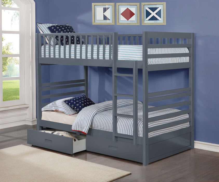 Jamie Single-Single Wood Bunk Bed
