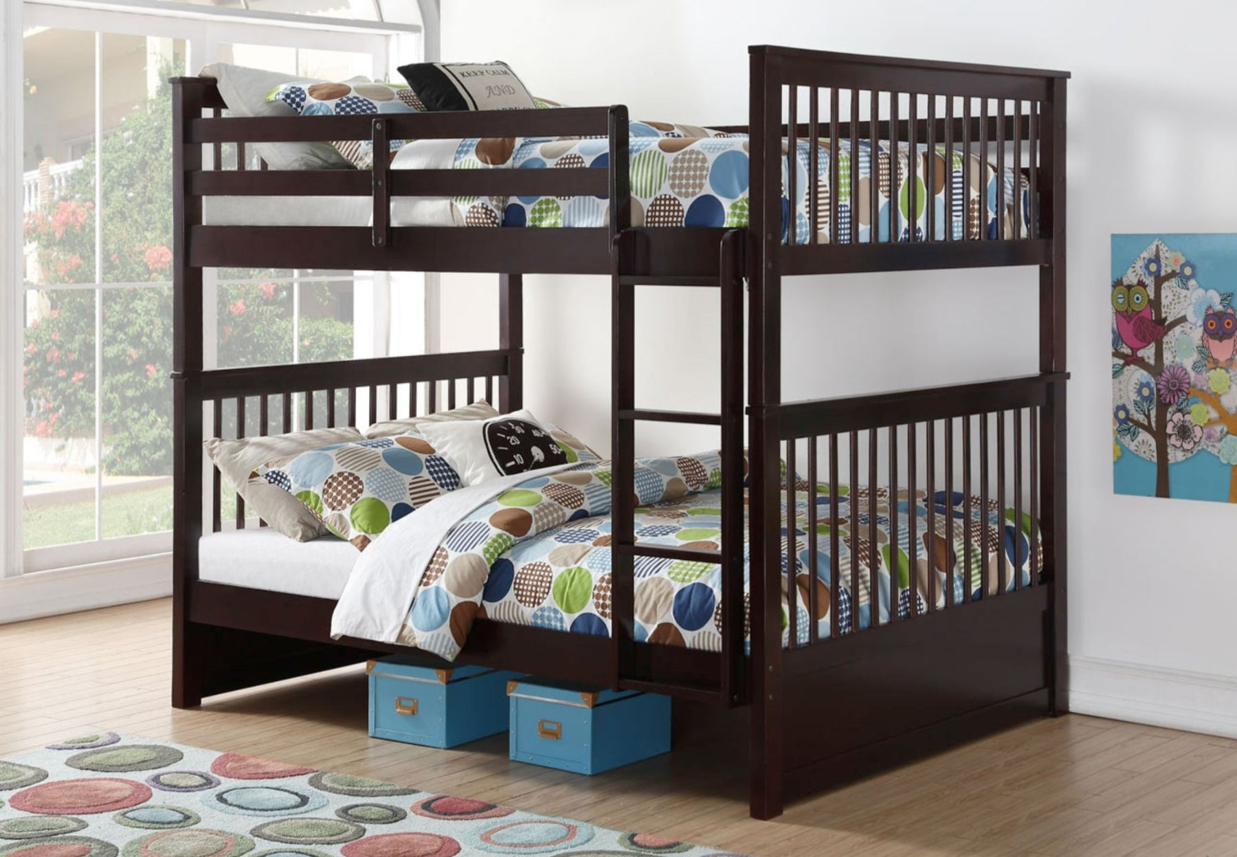 Jimmy Double-Double Wood Bunk Bed