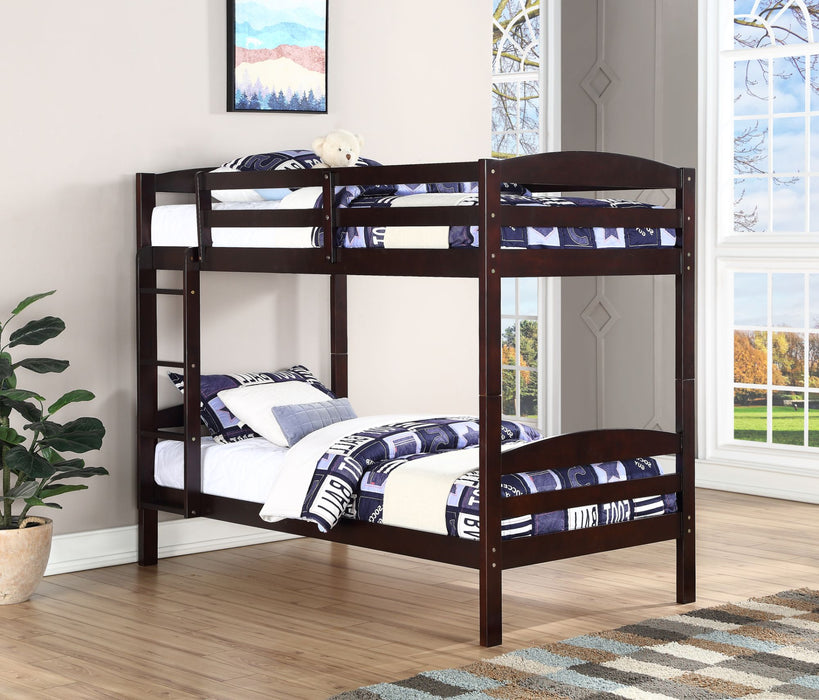 Jannet Single-Single Wood Bunk Bed