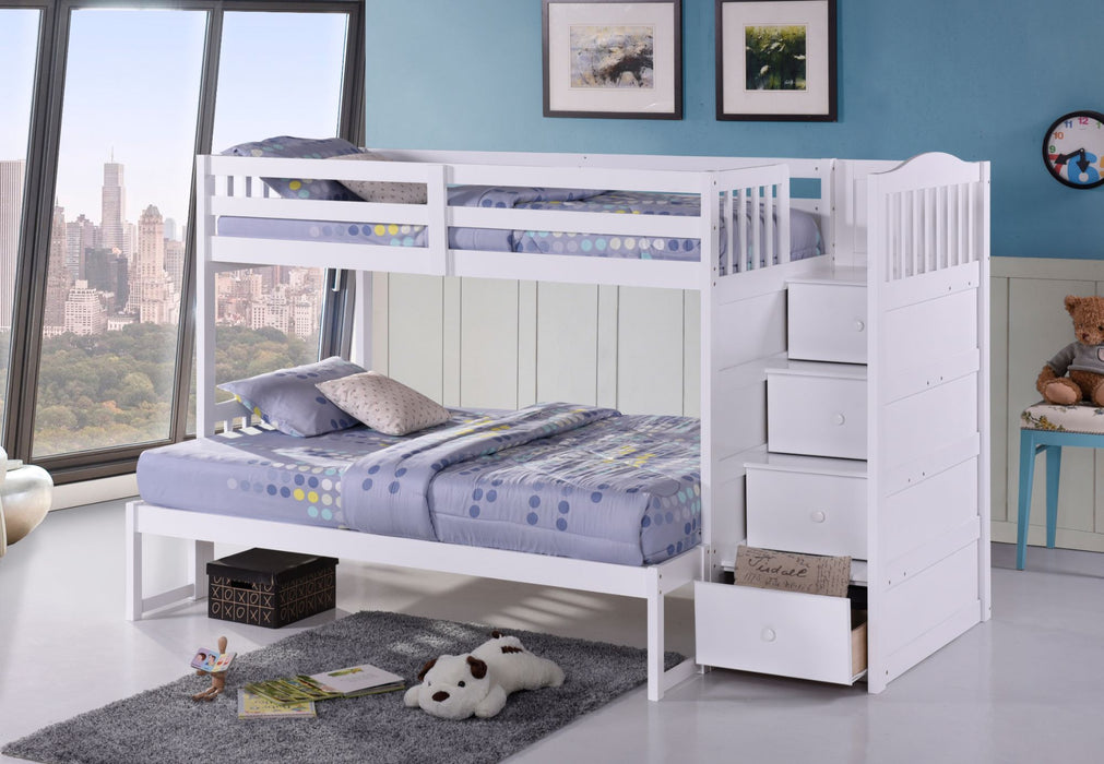 Jonathan Single-Double Staircase Bunk Bed