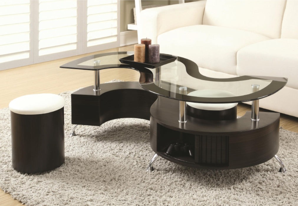 Melanie 1 Pc Coffee Table with Stools