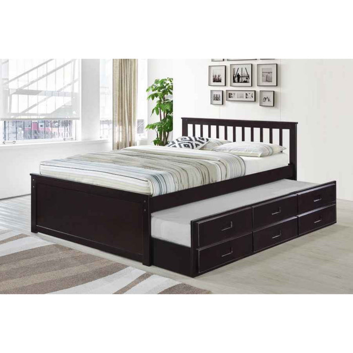 Cathy Single - Single Captain Bed with Trundle