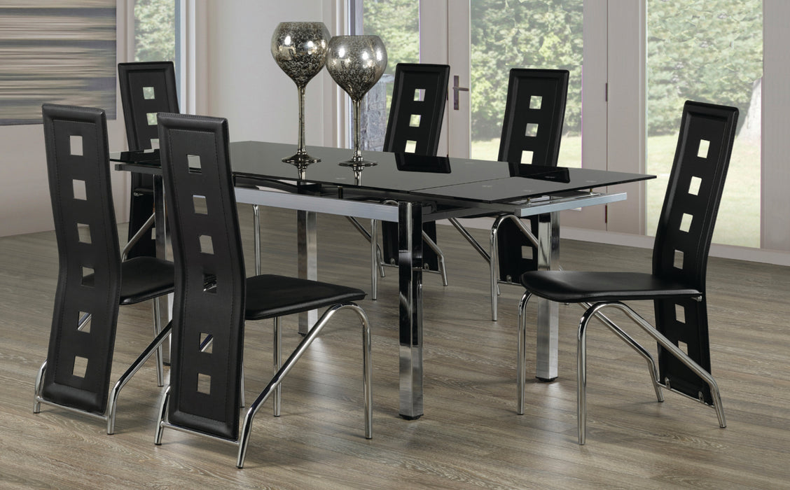 Hugo 7 Pc Dinette with Leaves