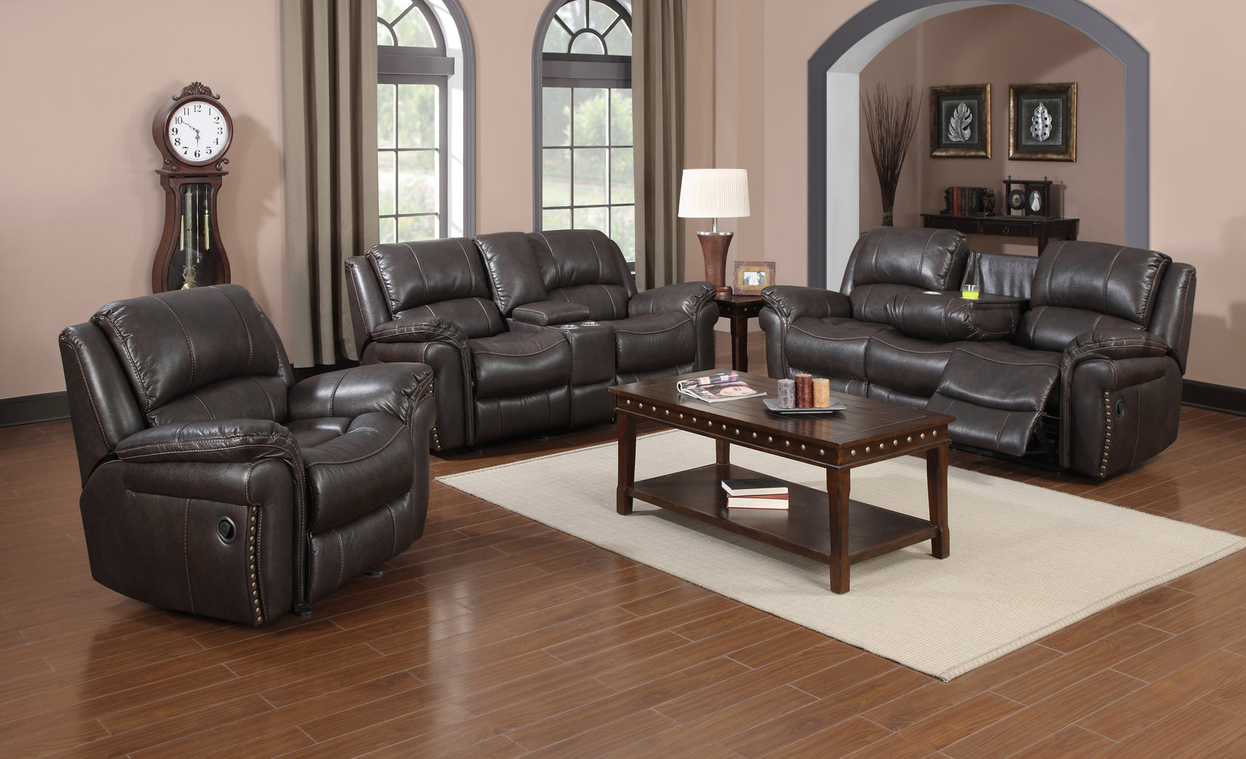 Ruby 3 Pc Living Room Set