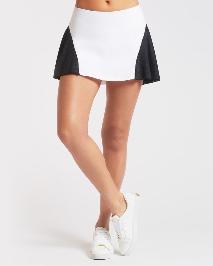 1-Love Tennis Skirt - White/Black