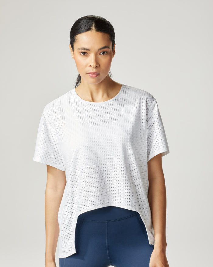 Airwave Tie Top - White