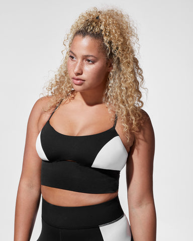 Alba Crop Top - Black/White