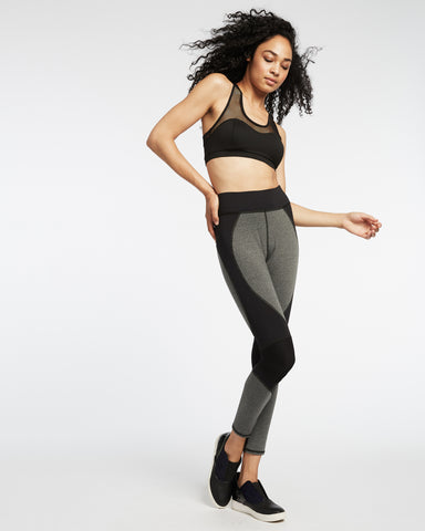 Velocity Legging - Heather Grey