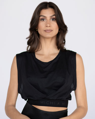Aria Crop Top - Black