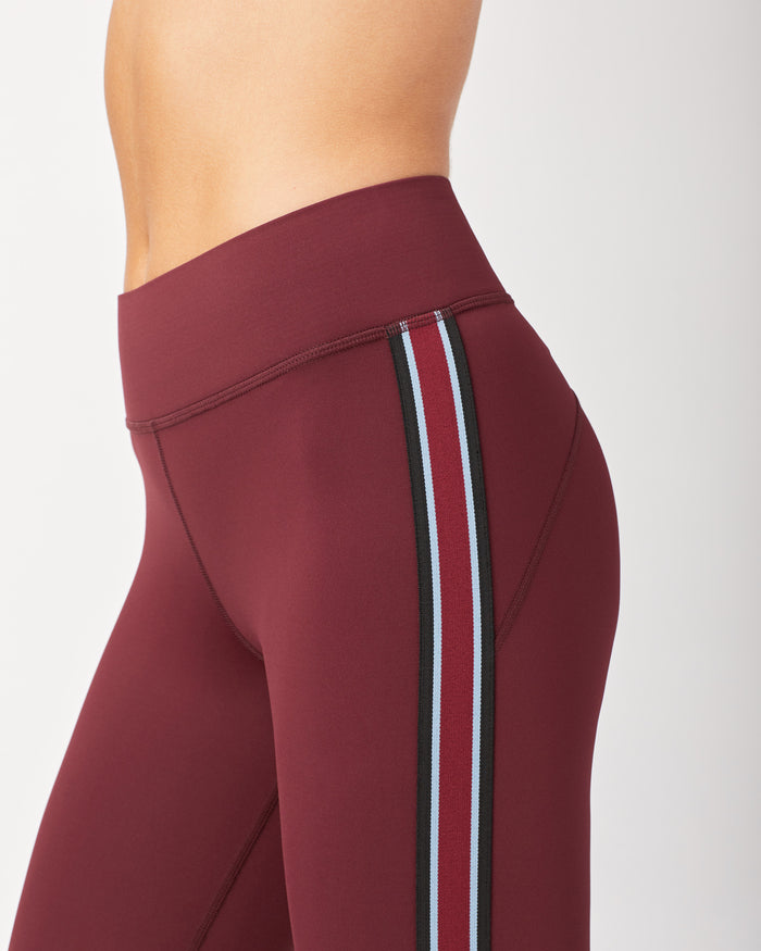 Ash Crop Legging - Wine