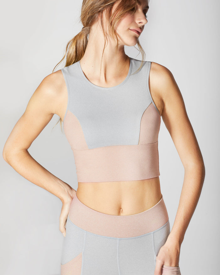 Aura Crop Top - Rose Quartz