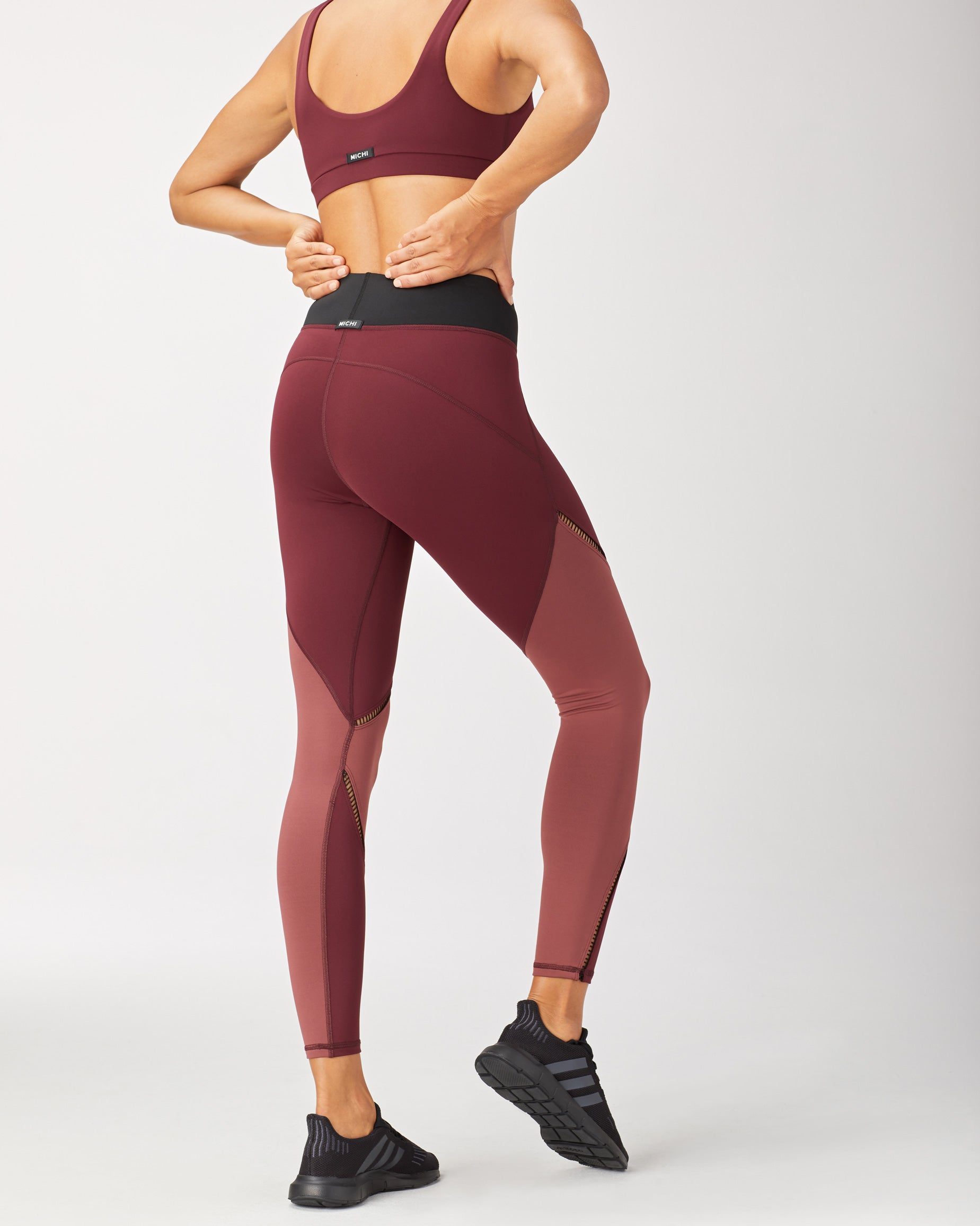 Axial Legging - Wine/Spice