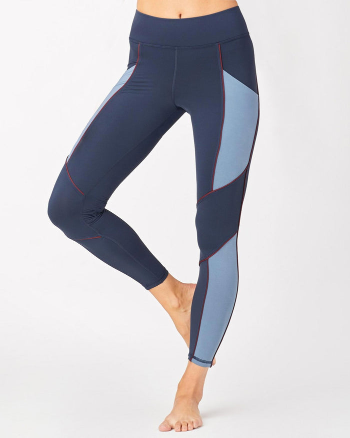 Baltic Pocket Legging - Deep Sea Navy/Storm Blue