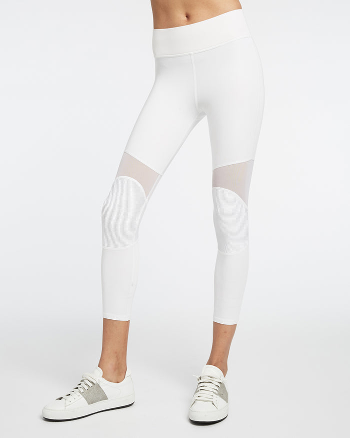 Ballistic Crop Legging - White
