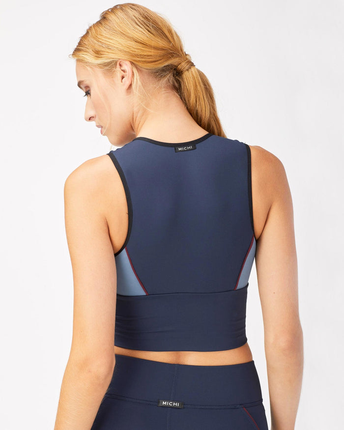 Baltic Crop Top - Deep Sea Navy/Storm Blue