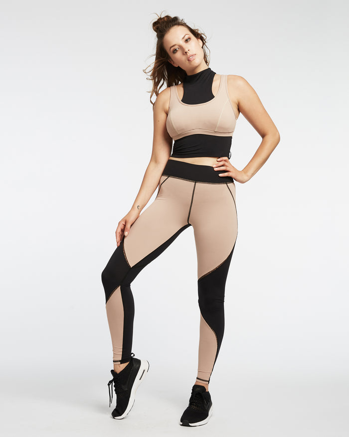 Axial Legging - Nude Pink/Black