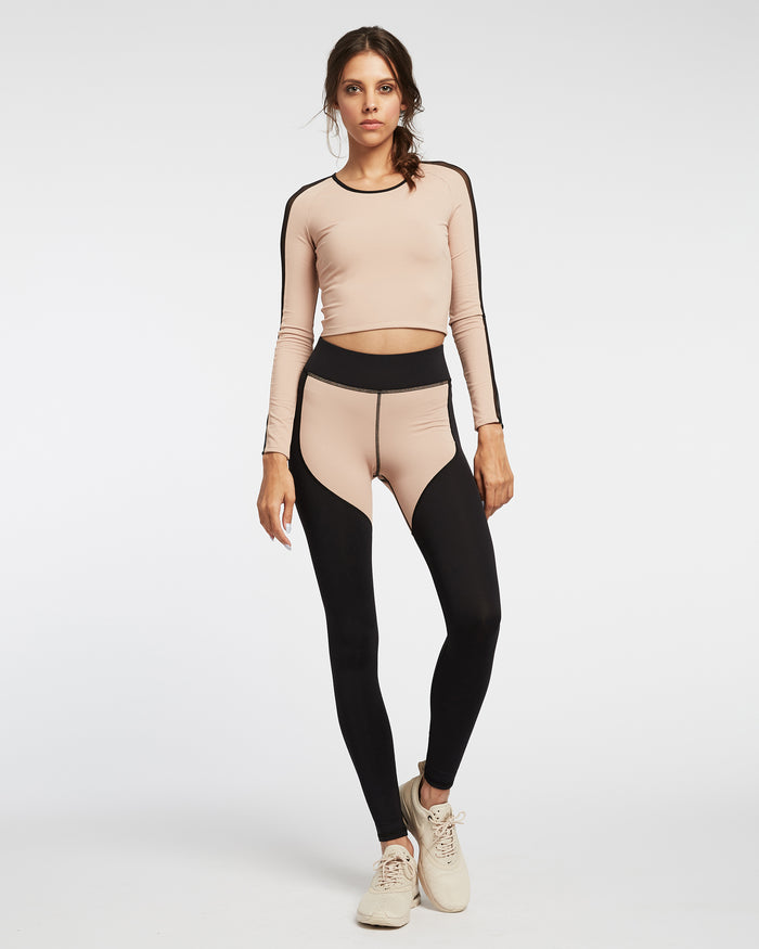 Bolt Crop Top - Nude Pink