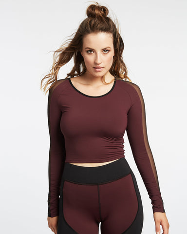 Bolt Crop Top - Mulberry