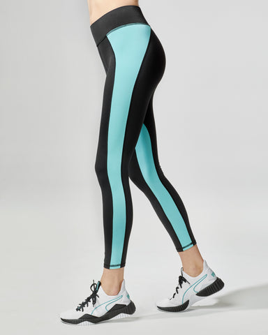Canyon Legging - Black/Island Blue