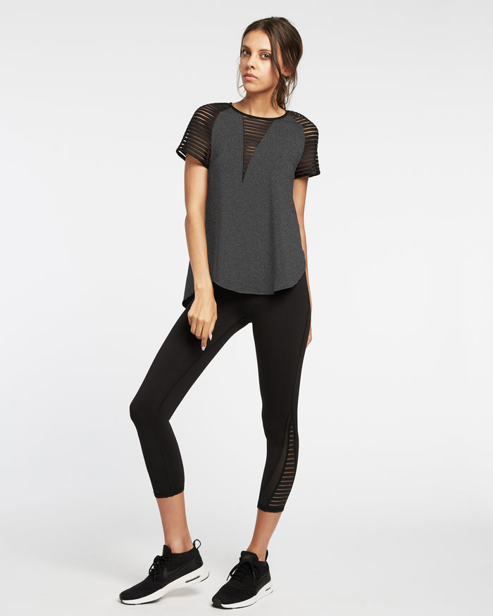 Descent Top - Heather Grey