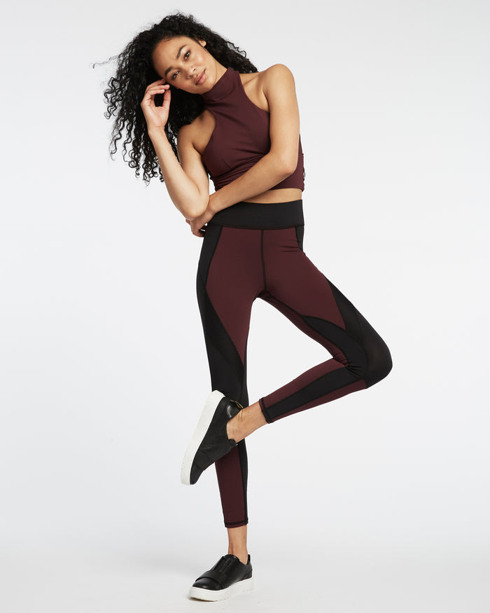 Extension Legging - Mulberry/Black