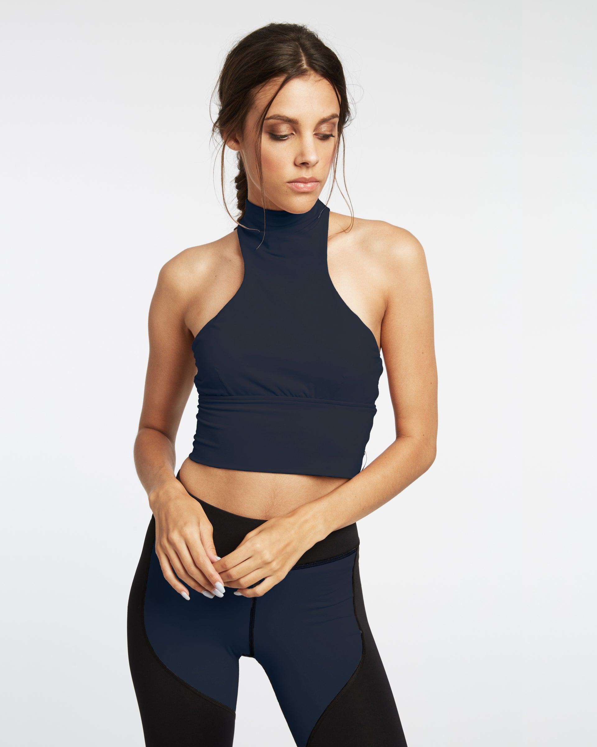 Extension Crop Top - Deep Sea Navy
