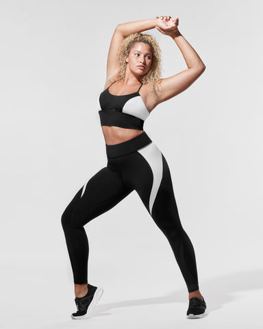 Flare Legging - Black/White