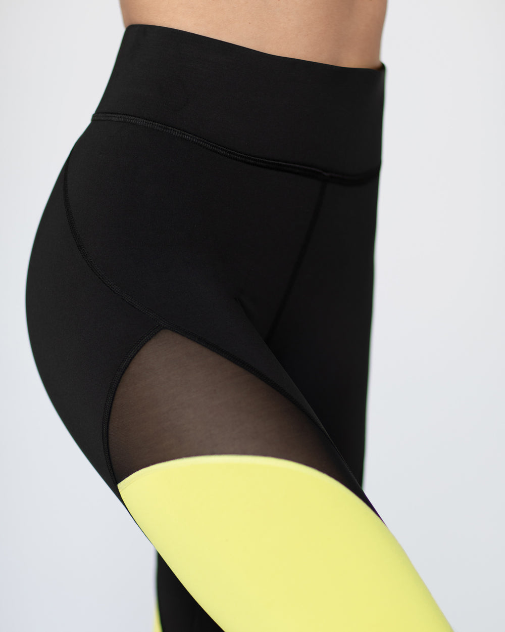 Fuse Legging - Black/Electric Yellow