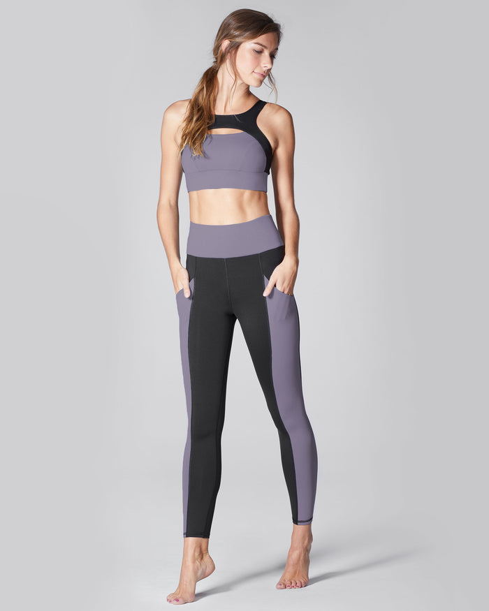 Fusion High Waisted Pocket Legging - Mauve