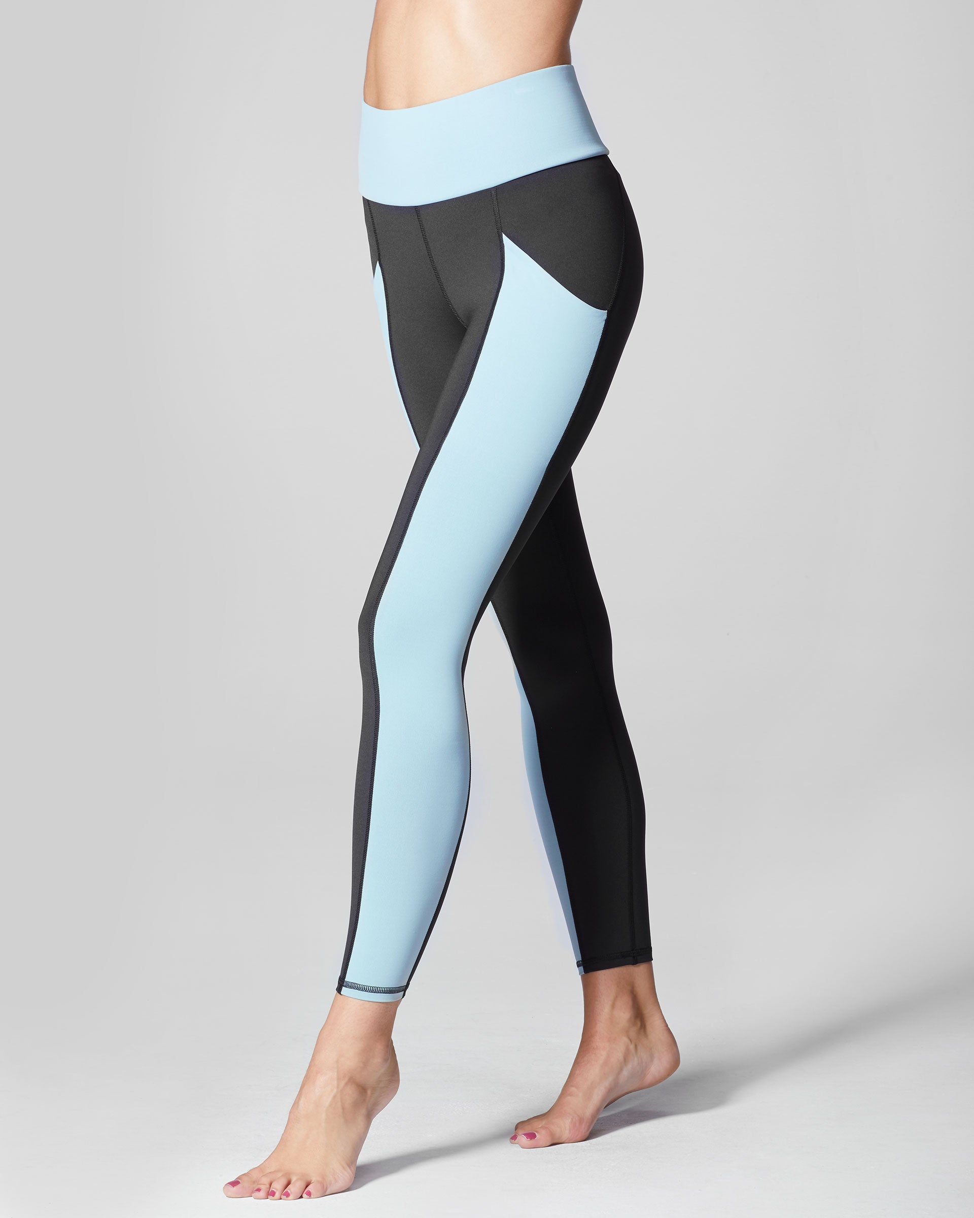 Fusion High Waisted Pocket Legging - Sky