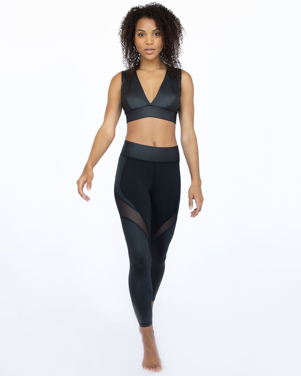 Glow Gloss Legging - Black
