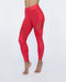 Glow Gloss Legging - Fire Red