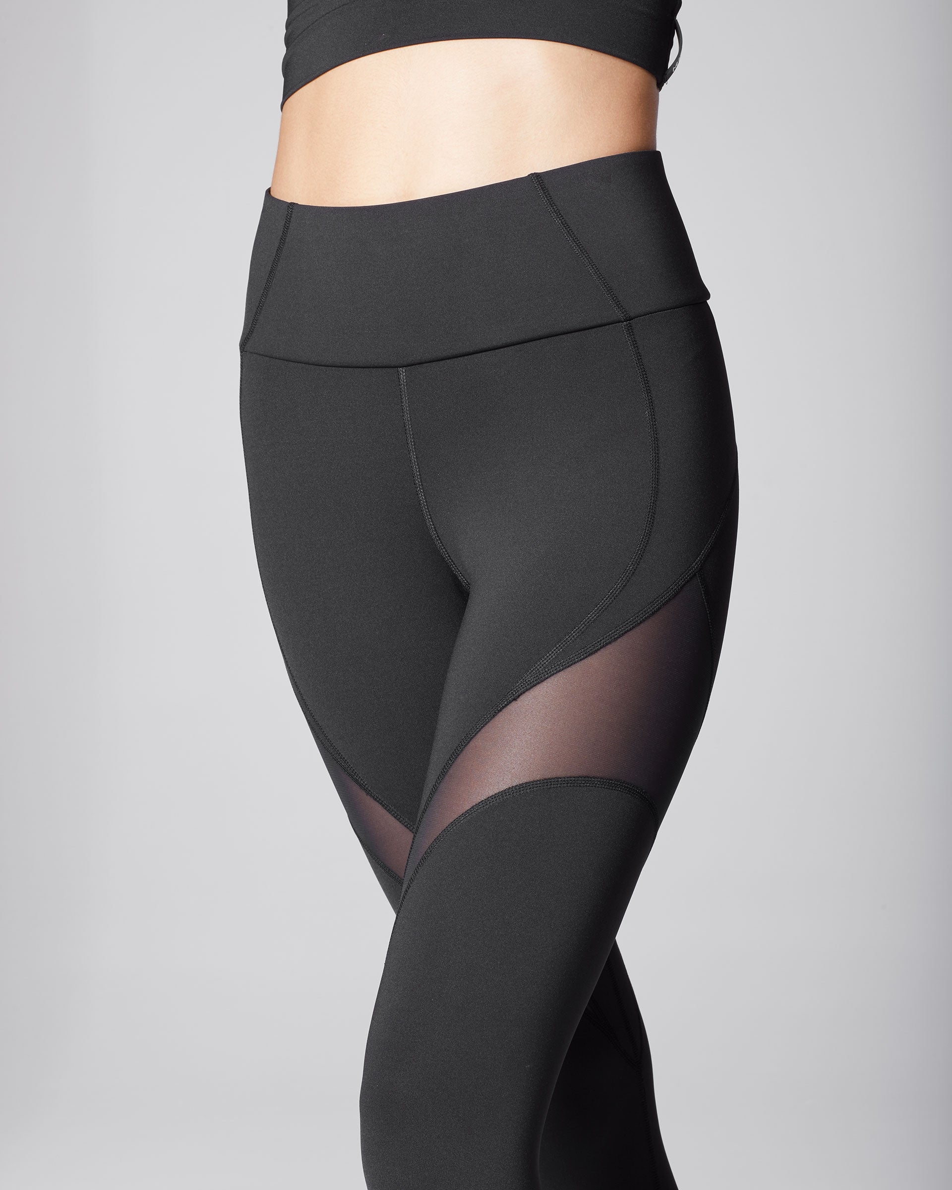 Glow High Waisted Legging - Black