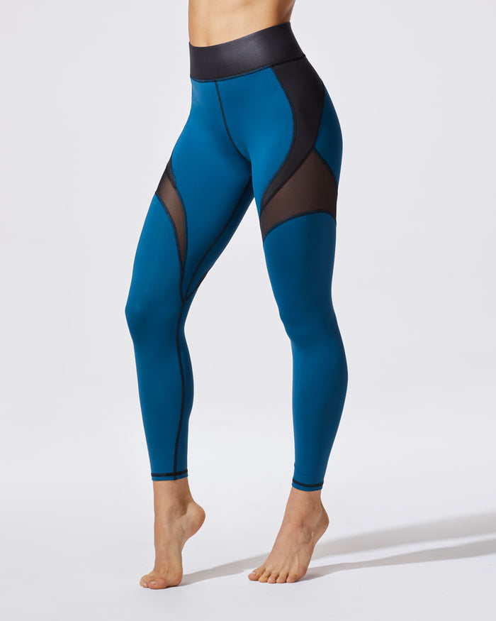 "3"" Band Glow Legging - Lagoon Blue"