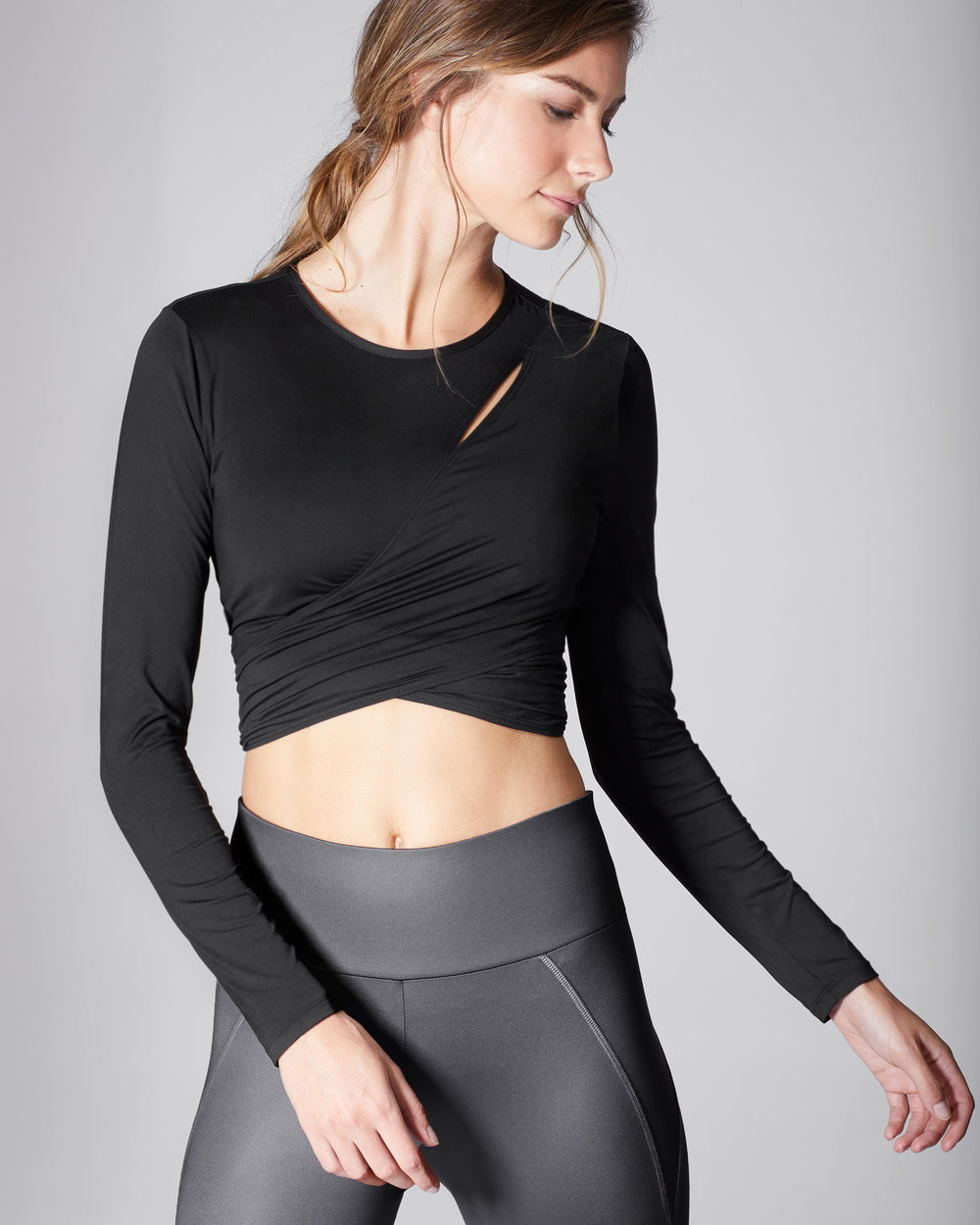 Glow Wrap Top - Black