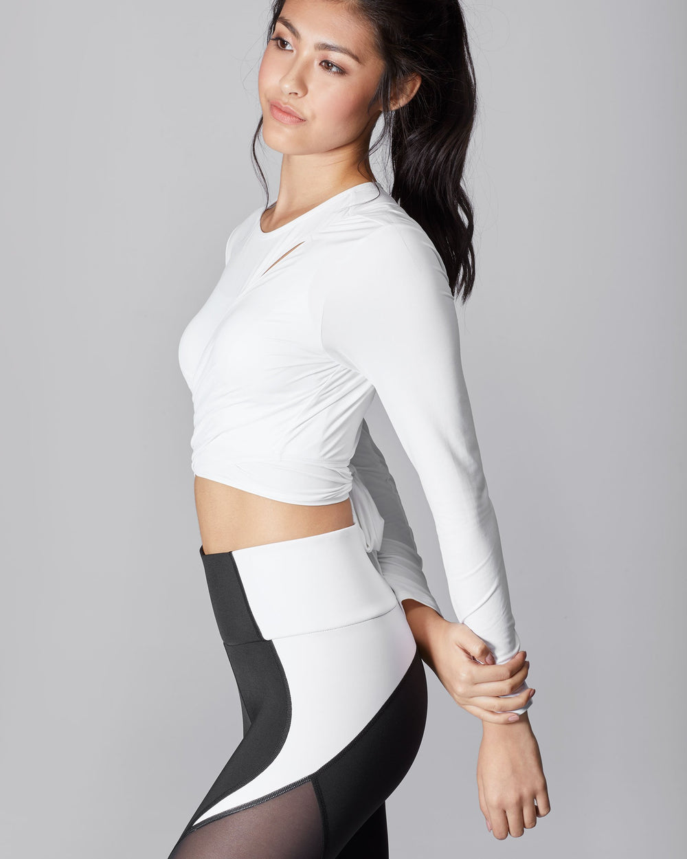 Glow Wrap Top - White