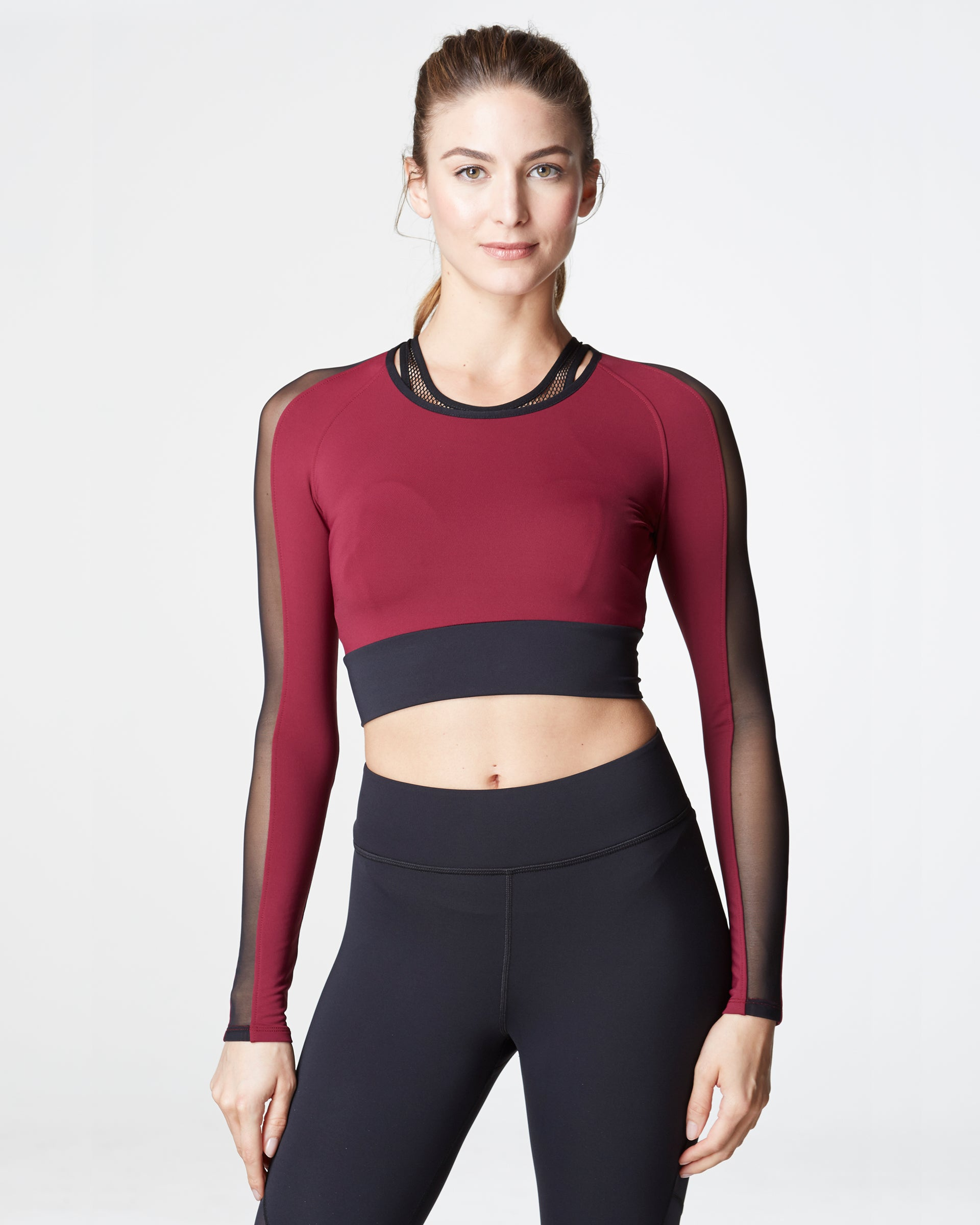 Garnet Crop Top - Shiraz