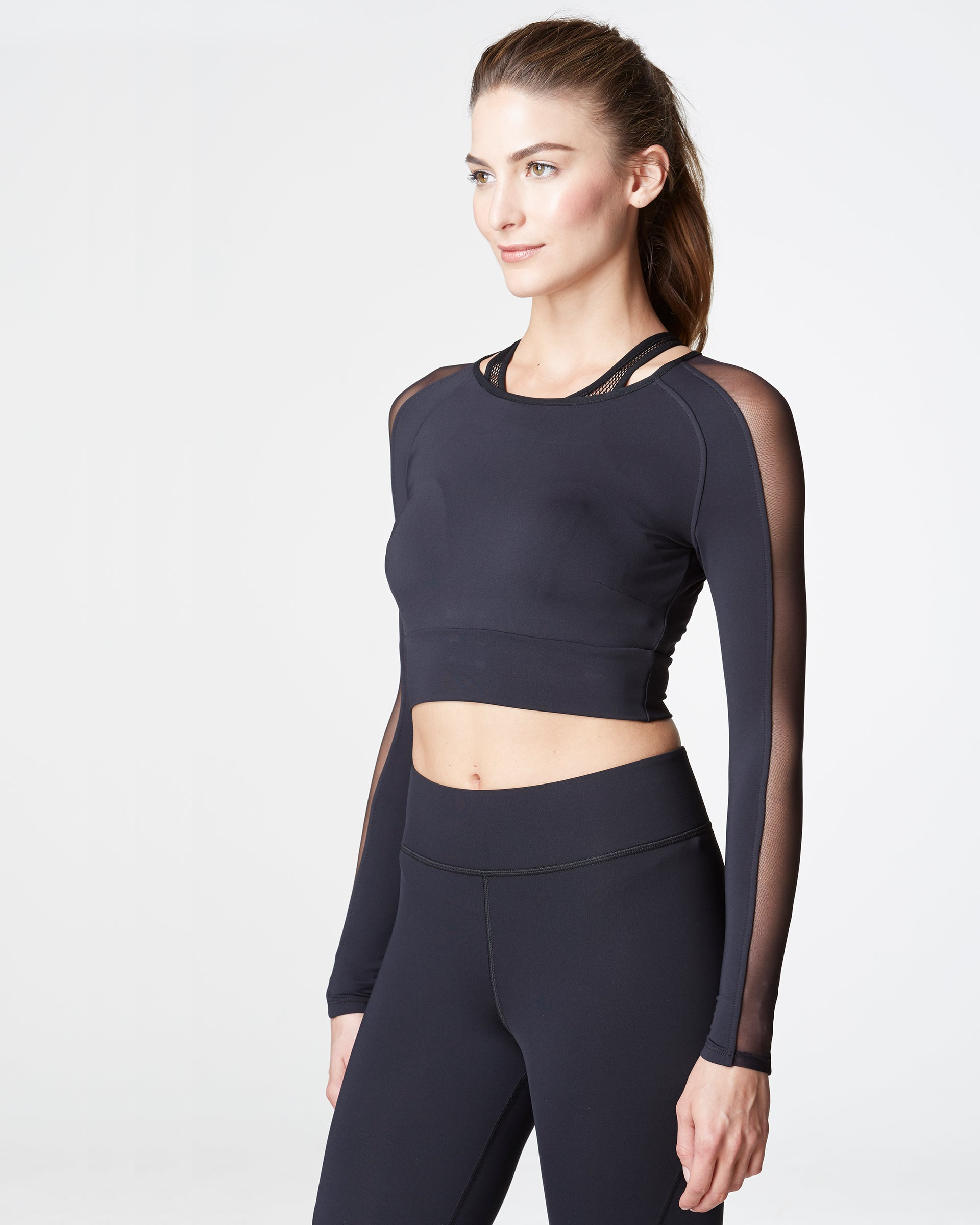 Garnet Crop Top - Black