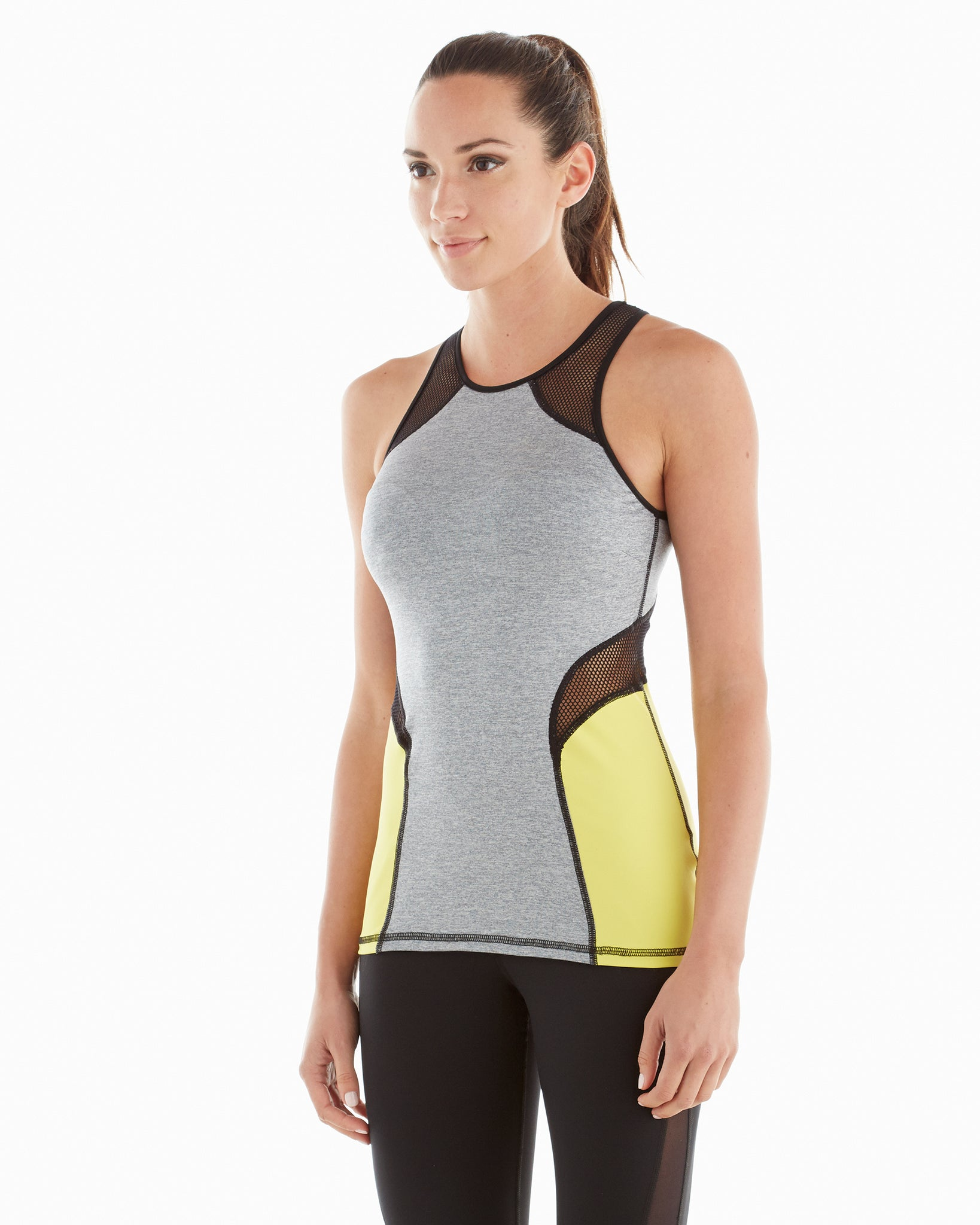 Chameleon Tank - Heather Grey