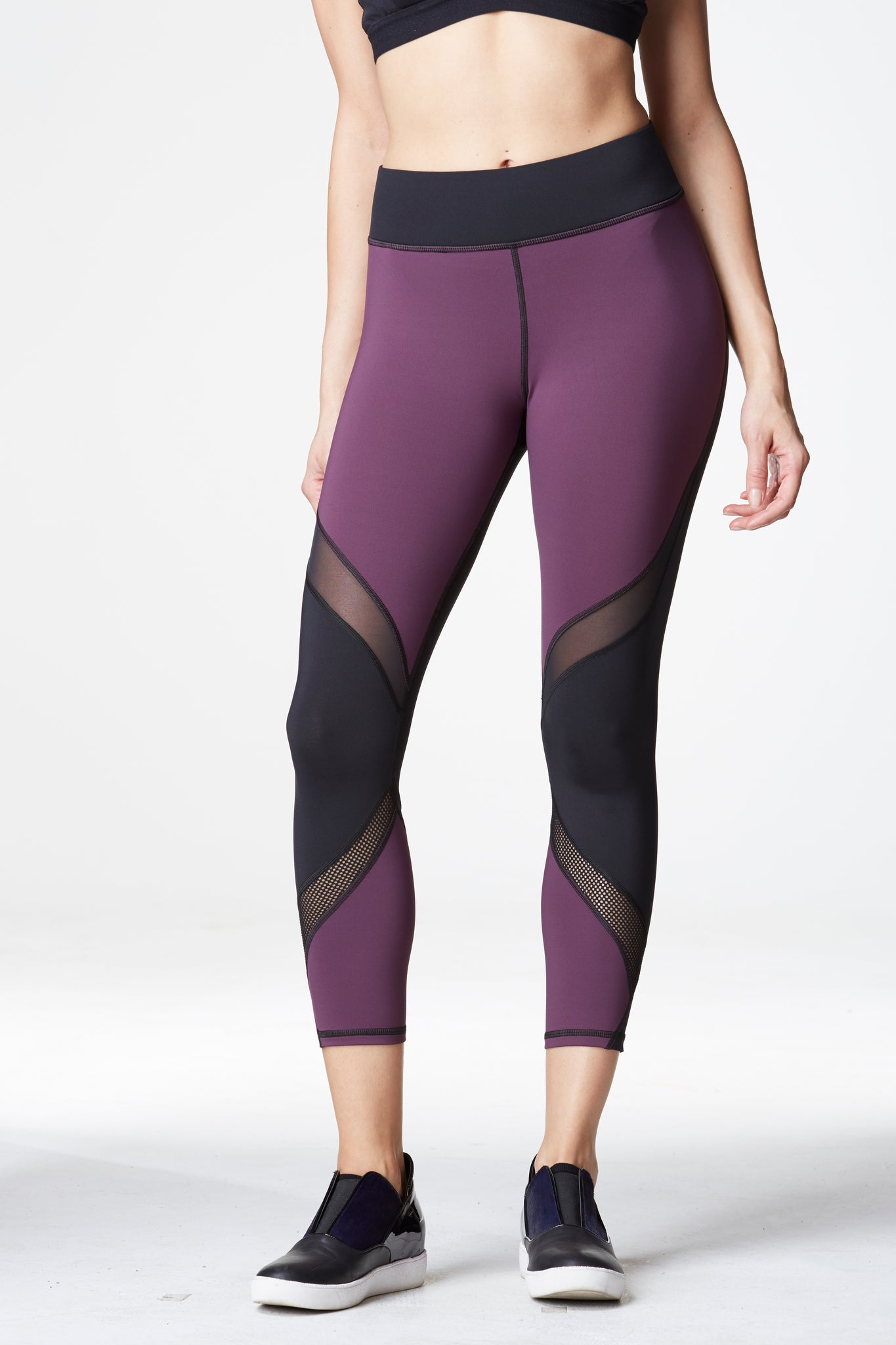 Hydra Crop Legging - Plum