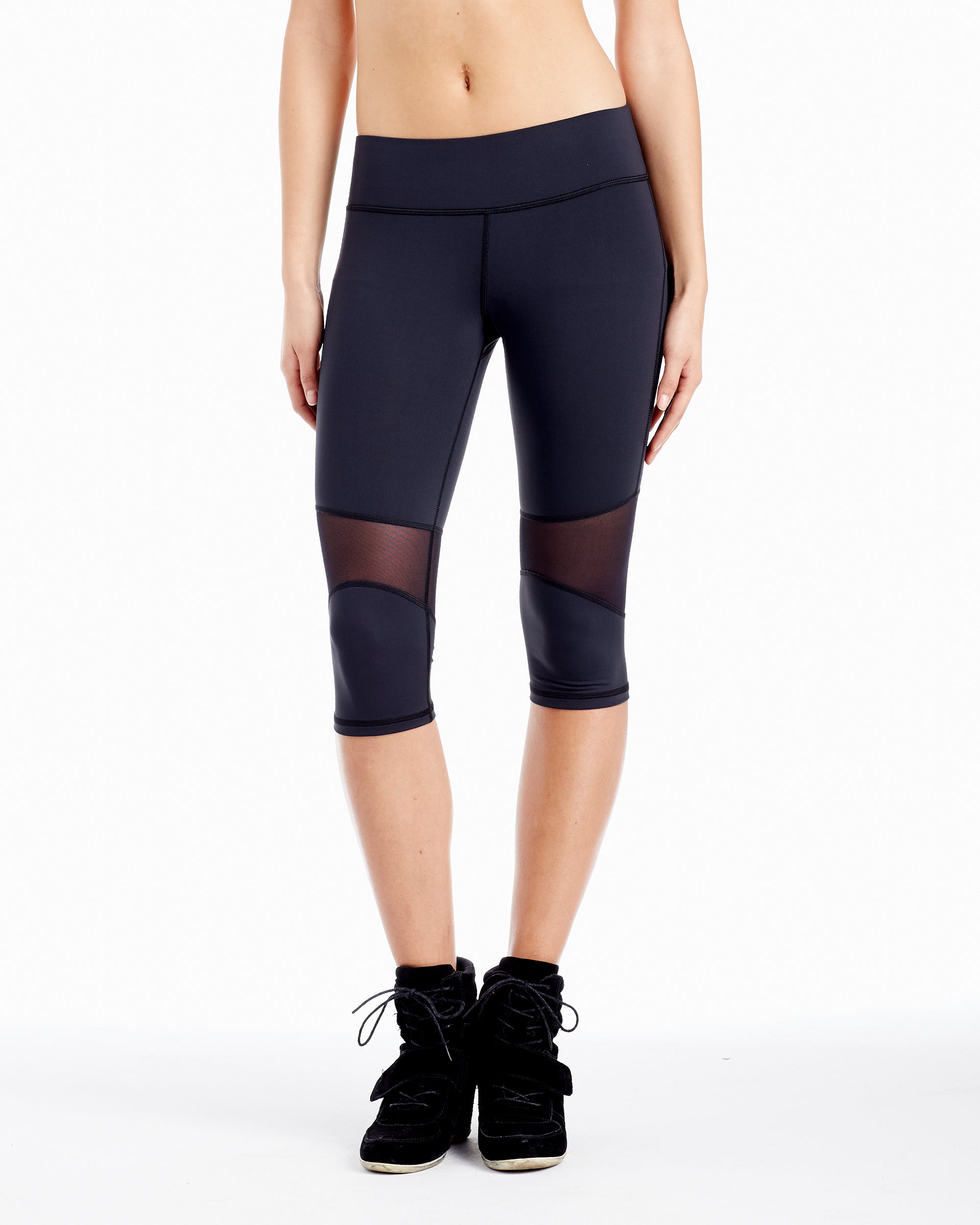 Motorino Knee Crop Legging - Black