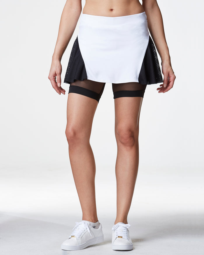 Deuce Tennis Skirt - White/Black