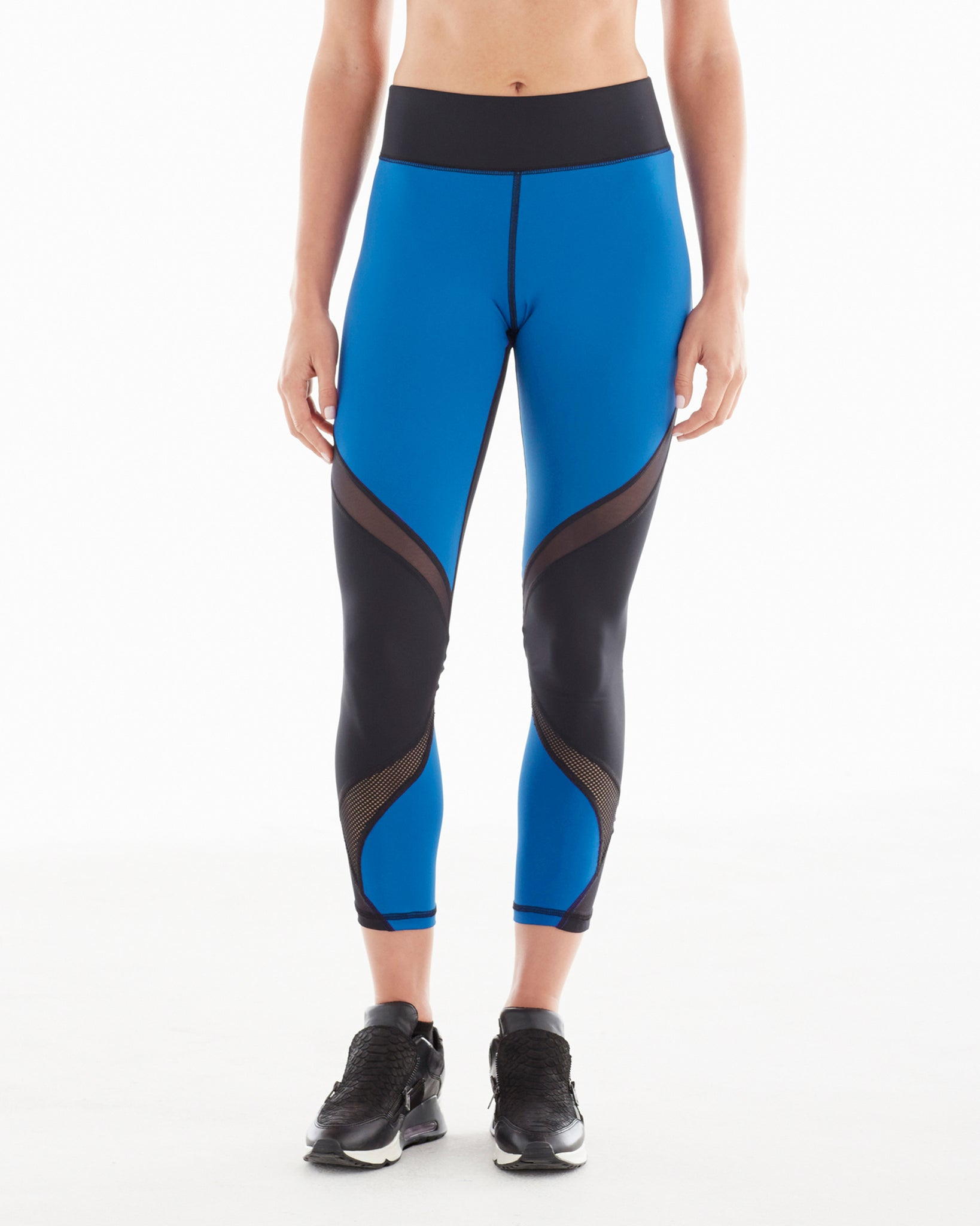 Hydra Crop Legging - Ocean Blue